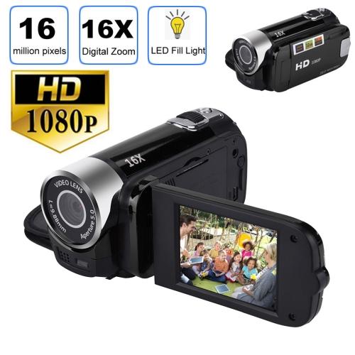 1080P HD 16X Digital Zoom 16.0 MP Digital Video Camera Recorder with 2.7 inch LCD Screen(Black)