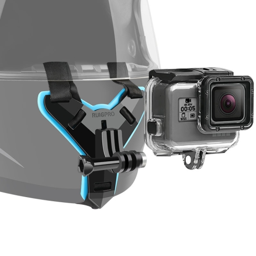 Helmet Belt Mount + Waterproof Housing Protective Case for GoPro HERO7 Black /6 /5