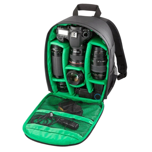 Buy INDEPMAN DL-B013 Portable Waterproof Scratch-proof Outdoor Sports Backpack Camera Bag Phone Tablet Bag for GoPro, SJCAM, Nikon, Canon, Xiaomi Xiaoyi YI, iPad, Apple, Samsung, Huawei, Size: 26.5 * 12.5 * 33 cm, Green for $12.23 in SUNSKY store