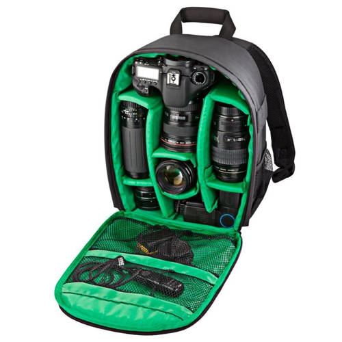Buy DL-B027 Portable Waterproof Scratch-proof Outdoor Sports Backpack SLR Camera Bag Phone Bag for GoPro, SJCAM, Nikon, Canon, Xiaomi Xiaoyi YI, iPad, Apple, Samsung, Huawei, Size: 27.5 * 12.5 * 34 cm, Green for $13.07 in SUNSKY store