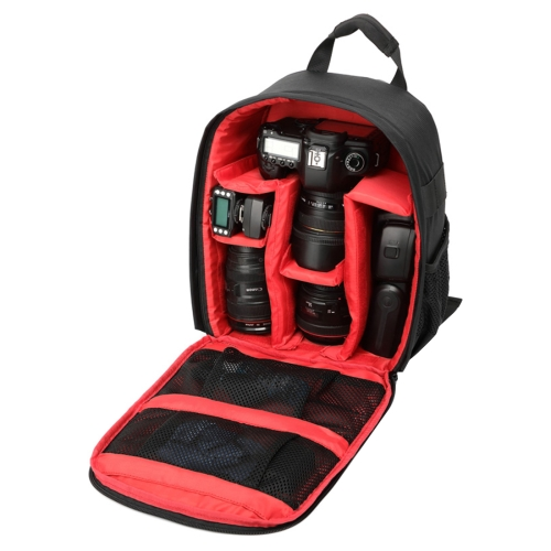 Buy DL-B027 Portable Waterproof Scratch-proof Outdoor Sports Backpack SLR Camera Bag Phone Bag for GoPro, SJCAM, Nikon, Canon, Xiaomi Xiaoyi YI, iPad, Apple, Samsung, Huawei, Size: 27.5 * 12.5 * 34 cm, Red for $13.07 in SUNSKY store