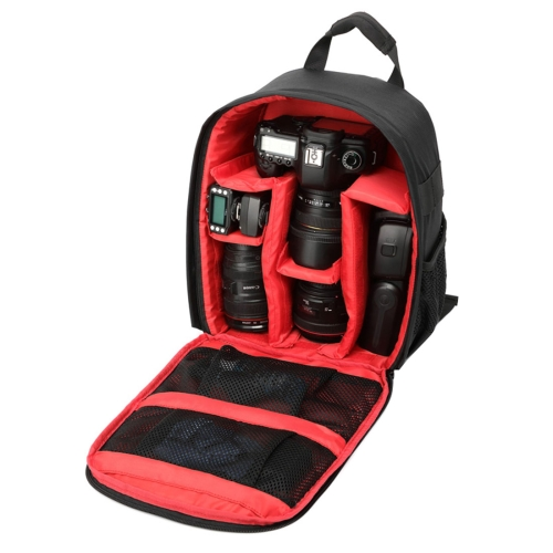 Buy DL-B028 Portable Casual Style Waterproof Scratch-proof Outdoor Sports Backpack SLR Camera Bag Phone Bag for GoPro, SJCAM, Nikon, Canon, Xiaomi Xiaoyi YI, iPad, Apple, Samsung, Huawei, Size: 27.5 * 12.5 * 34 cm, Red for $13.07 in SUNSKY store