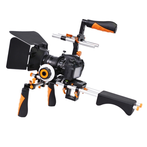 Buy YELANGU D230 C-shape Arm Mount Camera Shoulder Mount Kit with Matte Box & Follow Focus Finder for DSLR & DV Digital Video & other Cameras with 1/4 inch Screw Hole, Orange for $134.94 in SUNSKY store