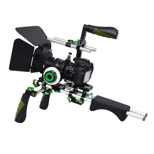 Buy YELANGU D230-3 C-shape Arm Mount Camera Shoulder Mount Kit with Matte Box & Follow Focus Finder for DSLR & DV Digital Video & other Cameras with 1/4 inch Screw Hole, Green for $134.94 in SUNSKY store