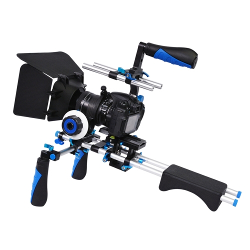 Buy YELANGU D230-2 C-shape Arm Mount Camera Shoulder Mount Kit with Matte Box & Follow Focus Finder for DSLR & DV Digital Video & other Cameras with 1/4 inch Screw Hole, Blue for $134.94 in SUNSKY store