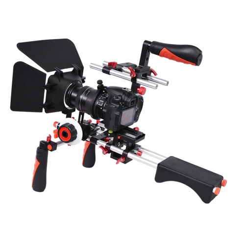 Buy YELANGU D230-1 C-shape Arm Mount Camera Shoulder Mount Kit with Matte Box & Follow Focus Finder for DSLR & DV Digital Video & other Cameras with 1/4 inch Screw Hole, Red for $134.94 in SUNSKY store