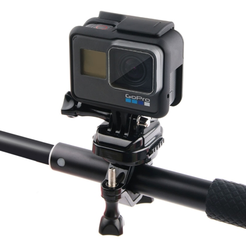 GP432 Bicycle Motorcycle Handlebar Mount for GoPro HERO6 /5 /5 Session /4 Session /4 /3+ /3 /2 /1 / Fusion, Xiaoyi and Other Action Cameras(Black)
