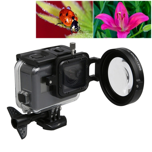 Buy For GoPro HERO5 Sport Action Camera Professional 58mm 16X Macro Lens Close-up Filter with Lens Base & Adapter Ring & Lens Protective Cap & Anti-lost Hand Strap & Cleaning Cloth for $12.50 in SUNSKY store