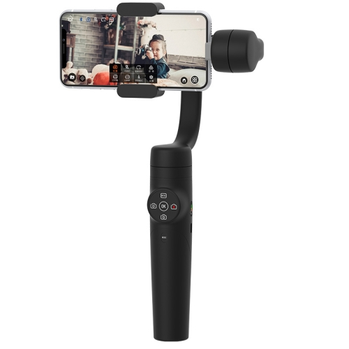 Black Color : Black Durable CAOMING S5 3-Axis Stabilized Handheld Gimbal Stabilizer for Smartphones