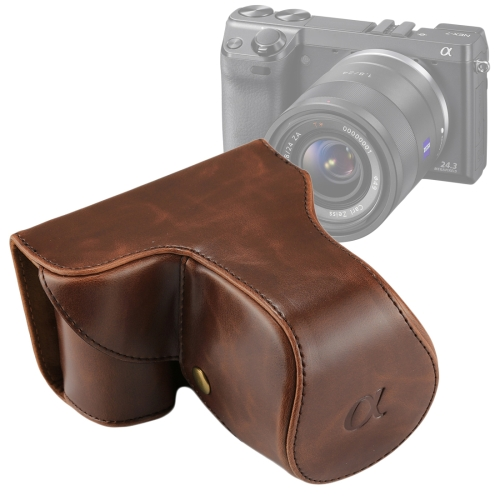 Buy Full Body Camera PU Leather Case Bag with Strap for Sony NEX 7 / F3 (18-55mm Lens), Coffee for $8.27 in SUNSKY store