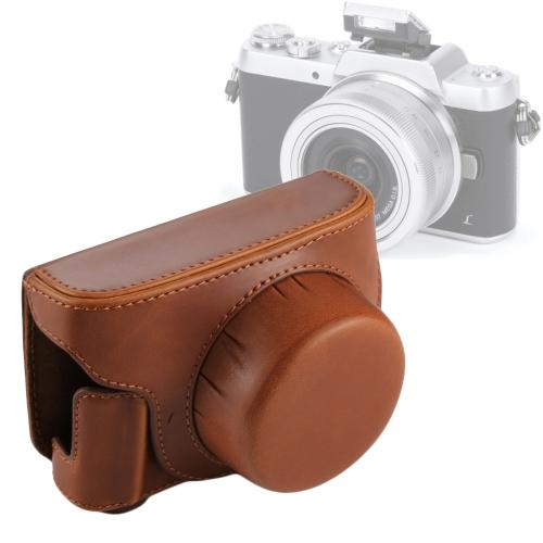 Tasche Polyurethan schwarz Kamera Hülle für Panasonic Lumix DMC-GF7