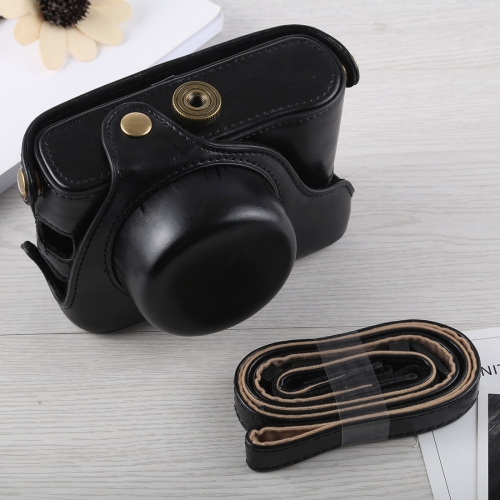 Full Body Camera PU Leather Case Bag with Strap for Fujifilm X100F (Black)