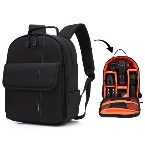 Buy HUWANG Portable Waterproof Scratch-proof Polyester Surface Material Dual Shoulders Backpack Outdoor Sports Camera Bag, Orange for $12.43 in SUNSKY store