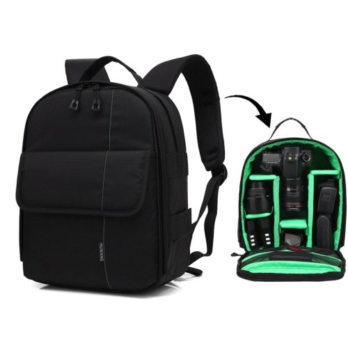 Buy HUWANG Portable Waterproof Scratch-proof Polyester Surface Material Dual Shoulders Backpack Outdoor Sports Camera Bag, Green for $12.43 in SUNSKY store