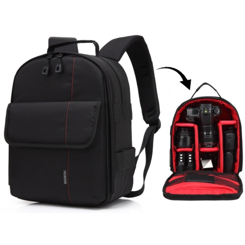 Buy HUWANG Portable Waterproof Scratch-proof Polyester Surface Material Dual Shoulders Backpack Outdoor Sports Camera Bag, Red for $12.43 in SUNSKY store