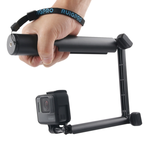3-Way Monopod + Magic Mount Selfie Stick for GoPro HERO5 Session /5 /4 Session /4 /3+ /3 /2 /1, Xiaoyi Sport Cameras, Length: 24.5-63cm(Black)