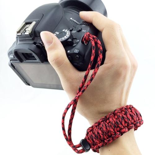 DIY Weave Style Anti-lost Colorful Wrist Strap Grip Emergency Survival Bracelet for DSLR / SLR Cameras, Random Color Delivery
