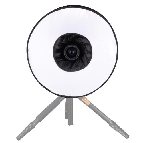 Black + White Camera /& Lighting Camera /& Photo 30cm Universal Round Style Flash Folding Soft Box Without Flash Light Holder
