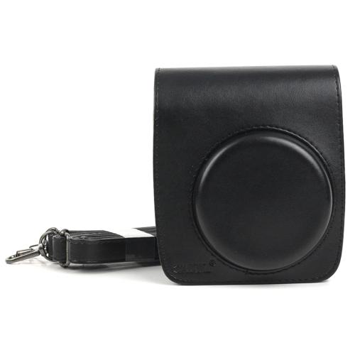 PU Leather Camera Protective bag for FUJIFILM Instax Mini 90 Camera, with Adjustable Shoulder Strap(Black)