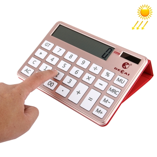 Buy 2 in 1 DEKAI Calculator + PU Leather Protective Case with Holder Function & Solar Panel for $19.51 in SUNSKY store