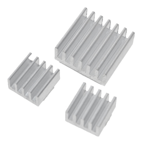 3 in 1 Cooling Heatsink Aluminium Heat Sink Pad Shims for Raspberry Pi 3 / 2