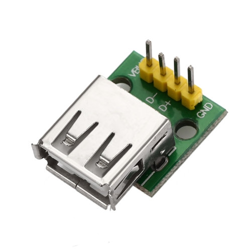 Type A Female USB to 2.54mm DIP Adapter Modules for Breadboard DIY 2PCS