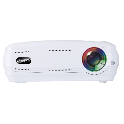 Buy Uhappy U58 Pro 3200LM 1080P Home Theater 1280*768 LED Projector with Remote Control, Support HDMI + USB + TV + YPbPr + AV + VGA, RAM: 1GB, ROM: 8GB, White for $176.72 in SUNSKY store