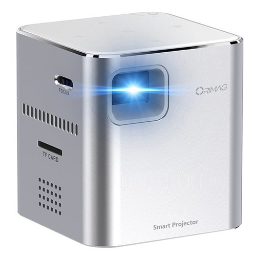 Buy ORIMAG P6 5W 80LM 640x480 Mini DLP Image System USB Charging LED Projector Pocket Beamer Home Theater with Indicator light, Support TF Card & WiFi & 3.5mm Earphone, Silver for $218.21 in SUNSKY store