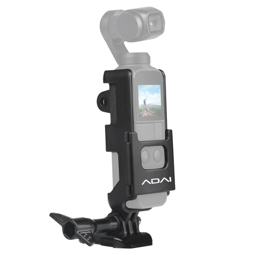 ADAI ABS Protective Cover Frame with Base Mount & Screw for DJI OSMO Pocket (Black)