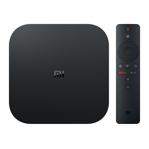 [HK Stock] Xiaomi Mi Box S 4K HDR Android TV with Google Assistant Remote Streaming Media Player, Cortex-A53 Quad-core 64bit, 2GB+8GB, Android 8.1, EU Version(Black)