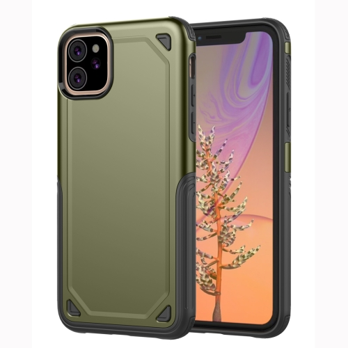 Shockproof Rugged Armor Protective Case for iPhone 11(Army Green)