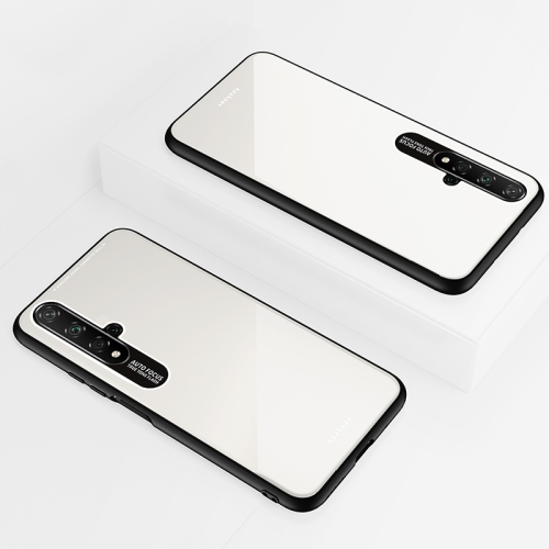 Lycra Series Eye Protection TPU Acrylic Protection Case for Huawei Honor 20(White) фото