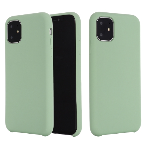 For iPhone 11 Pro Max Solid Color Liquid Silicone Shockproof Case (Mint Green)