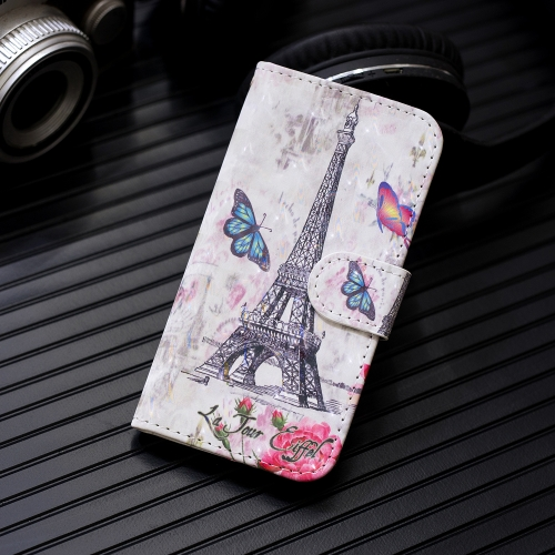 3D Painting Pattern Coloured Drawing Horizontal Flip PU Leather Case with Holder & Card Slots & Wallet For Motorola MOTO G7 / G7 Plus(Eiffel Tower)