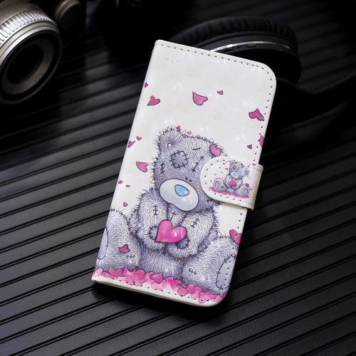 3D Painting Pattern Coloured Drawing Horizontal Flip PU Leather Case with Holder & Card Slots & Wallet For Huawei Honor 8X(Love Bear)