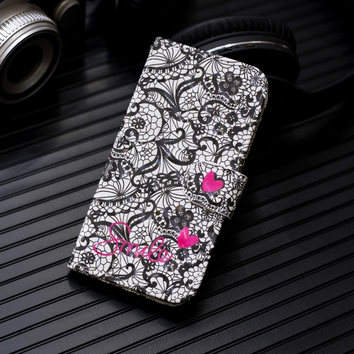 3D Painting Pattern Coloured Drawing Horizontal Flip PU Leather Case with Holder & Card Slots & Wallet For Huawei Y6 2018(Lace Flower)