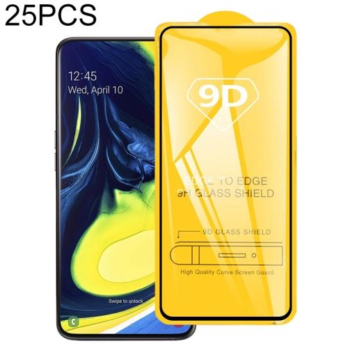 25 PCS 9D Full Glue Full Screen Tempered Glass Film For Galaxy A90 & A80