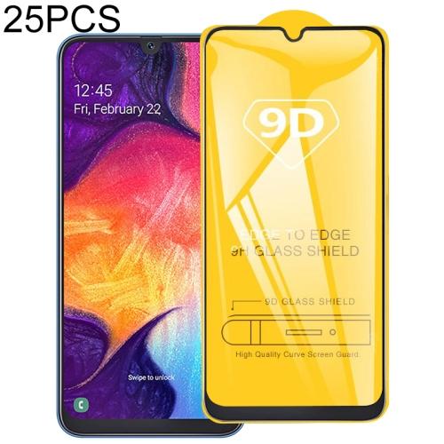 25 PCS 9D Full Glue Full Screen Tempered Glass Film For Galaxy A40S