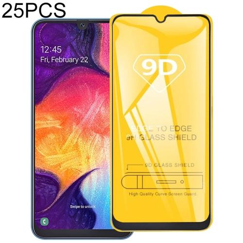 25 PCS 9D Full Glue Full Screen Tempered Glass Film For Galaxy A20e