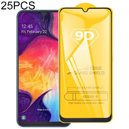 25 PCS 9D Full Glue Full Screen Tempered Glass Film For Galaxy J4 (2018)