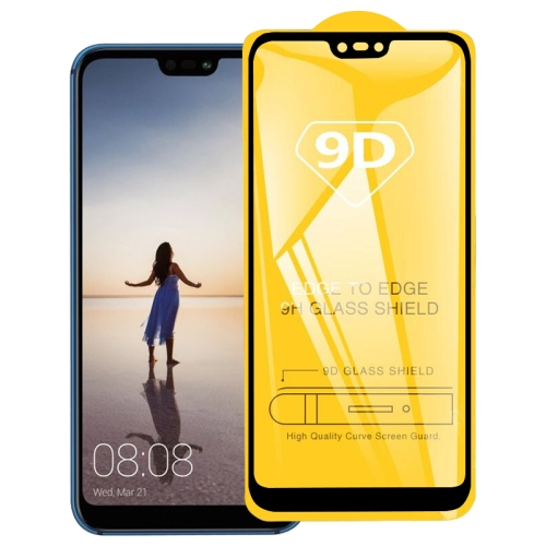 9D Full Glue Full Screen Tempered Glass Film For Huawei P20 Lite / Nova 3e