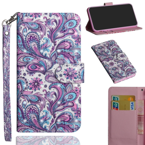 3D Painting Pattern Horizontal Flip TPU + PU Leather Case with Holder & Card Slots & Wallet For Galaxy A50(Spiral Pattern)