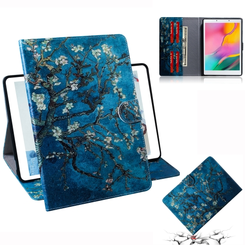 3D Colored Drawing Horizontal Flip Leather Case with Holder & Card Slot & Wallet For Galaxy Tab A 8.0 (2019) / T290 / T295(Apricot Flower)