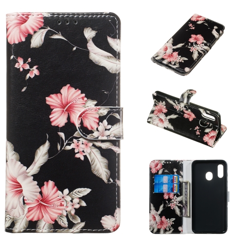 Colored Drawing Marble Pattern Horizontal Flip PU Leather Case with Holder & Card Slots & Wallet For Galaxy A20e(Azalea) фото