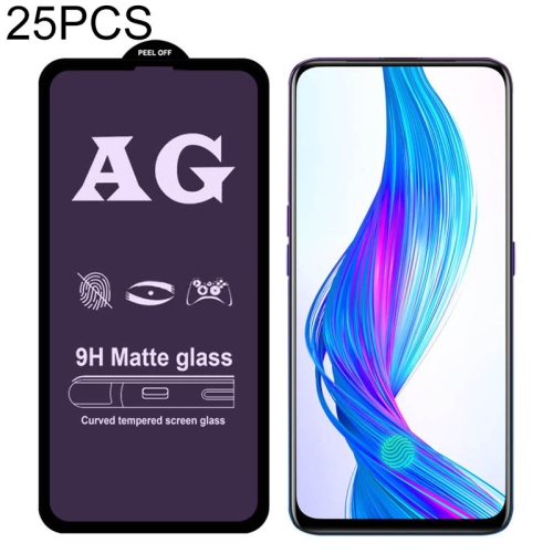 F5 Youth LGYD for 25 PCS AG Matte Frosted Full Cover Tempered Glass for Oppo A73
