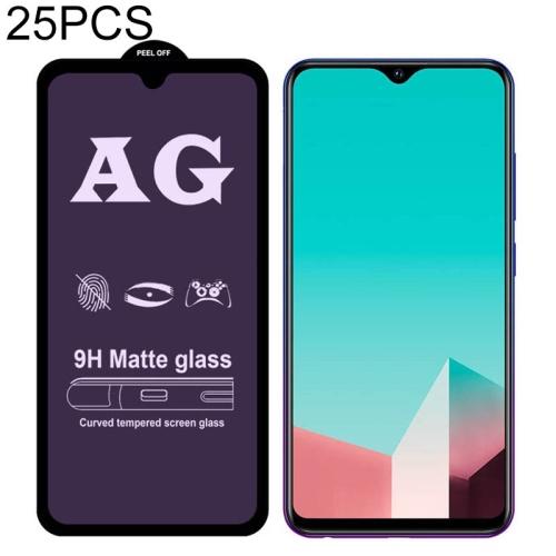 LGYD for 25 PCS AG Matte Anti Blue Light Full Cover Tempered Glass for Vivo iQOO