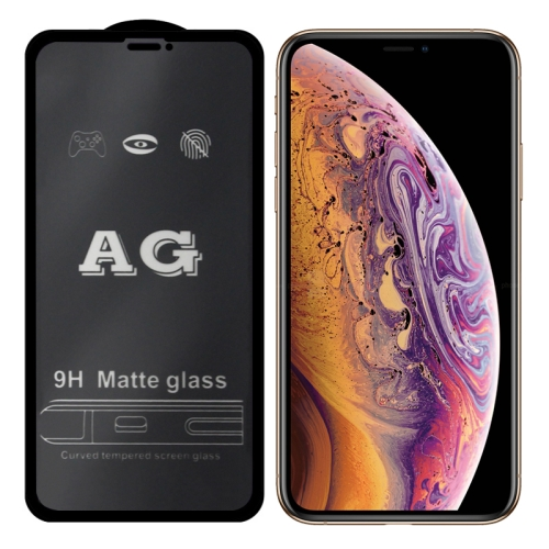 AG Matte Frosted Full Cover Tempered Glass For iPhone XS Max / 11 Pro Max