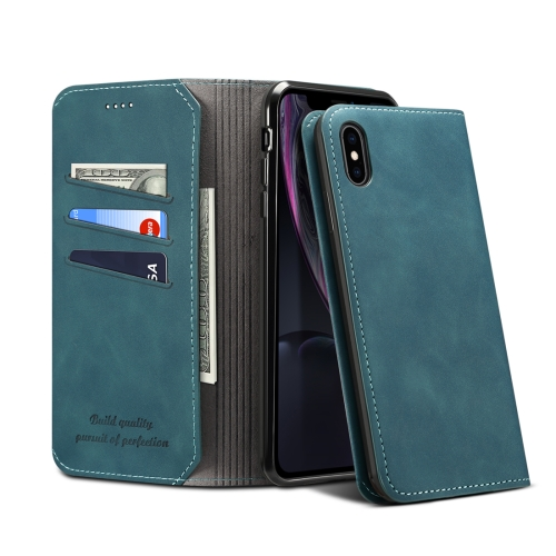 PU + TPU Horizontal Flip Leather Case with Holder & Card Slots & Wallet for iPhone X / XS(Green)