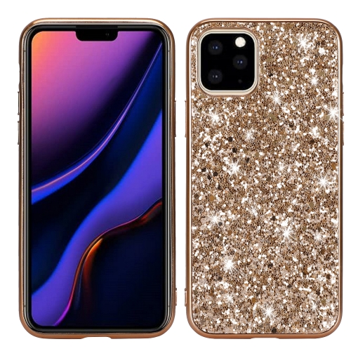 Glitter Powder Shockproof TPU Protective Case for iPhone 11(Gold) фото