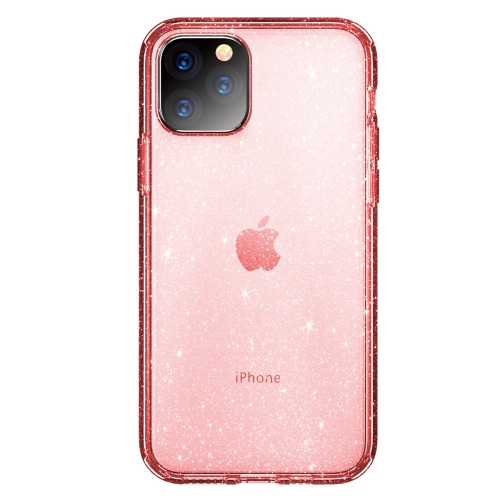 ROCK Shiny Series Shockproof TPU + PC Protective Case For iPhone 11 Pro(Transparent Pink)